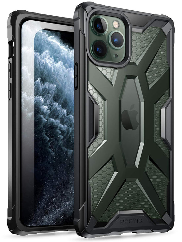 iPhone 11 Pro Case, Poetic Premium Hybrid Protective Clear Bumper Cover, Rugged Lightweight, Military Grade Drop Tested, Affinity Series, for Apple iPhone 11 Pro (2019) 5.8 Inch, Frost Clear/Black