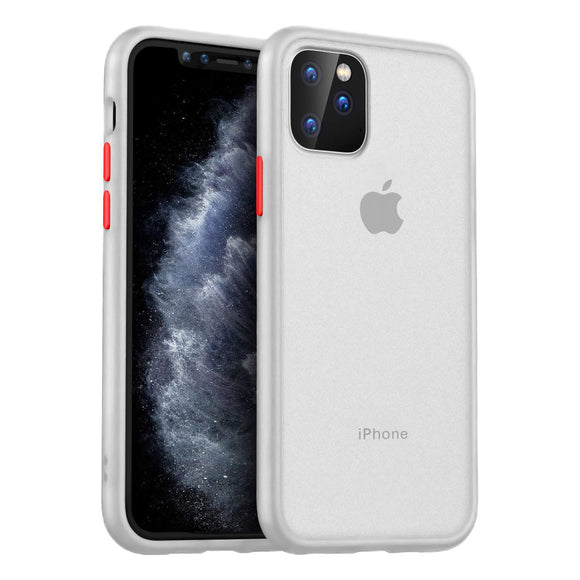 MKOAWA Slim Fit Case for iPhone 11 Pro, Translucent Matte Case with Soft Edges Shockproof Protective Cover for Apple iPhone 11 Pro Case 5.8 Inch (2019) - White
