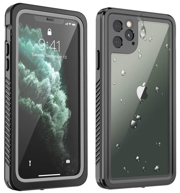 Justcool Waterproof Designed for iPhone 11 Pro Case, Full Body Heavy Duty Protection with Built-in Screen Protector, Clear Sound, Shockproof Rugged Cover Designed for iPhone 11 Pro 5.8 inch
