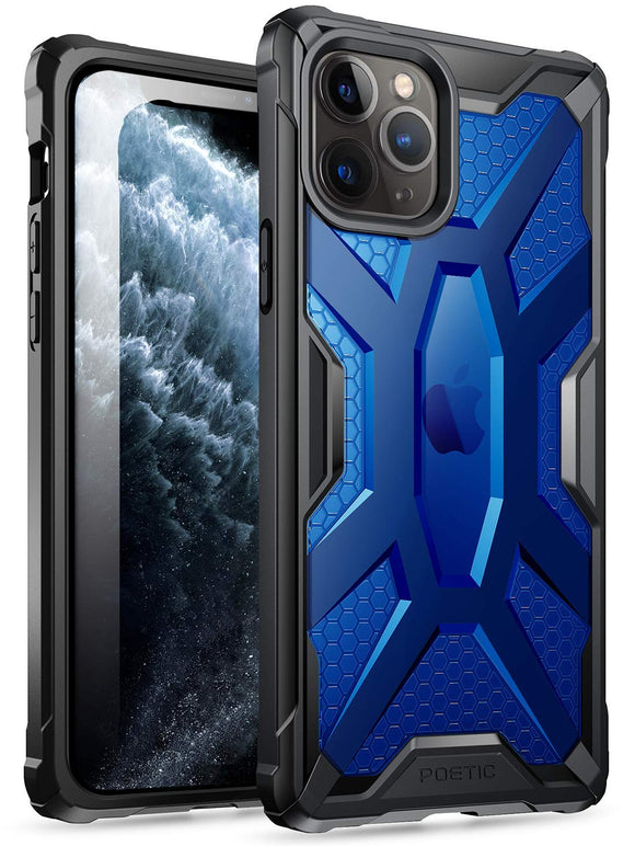 iPhone 11 Pro Case, Poetic Premium Hybrid Protective Clear Bumper Cover, Rugged Lightweight, Military Grade Drop Tested, Affinity Series, for Apple iPhone 11 Pro (2019) 5.8 Inch, Cobalt Blue