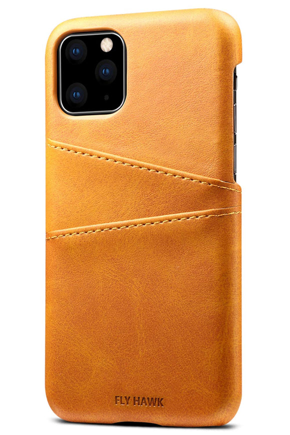 Wallet Case for 2019 iPhone 11 Pro, Slim PU Leather Back Case Cover Credit Card Holder, 5.8 inches, Khaki