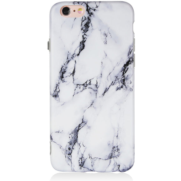 DICHEER iPhone 6 Case,iPhone 6s Case,Cute Black White Marble Men Women Girls Slim Fit Thin Clear Bumper Glossy TPU Soft Rubber Silicon Cover Best Protective Phone Case iPhone 6/iPhone 6s