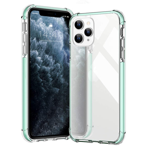 MATEPROX iPhone 11 Pro Case Clear Heavy Duty Protective Crystal Back Cover with Shockproof Bumper Case for iPhone 11Pro 5.8 (Clear Green)