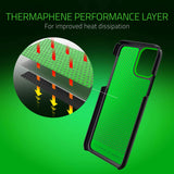 Razer Arctech Slim for iPhone 11 Pro Case: Thermaphene & Venting Performance Cooling - Wireless Charging Compatible - Mercury White