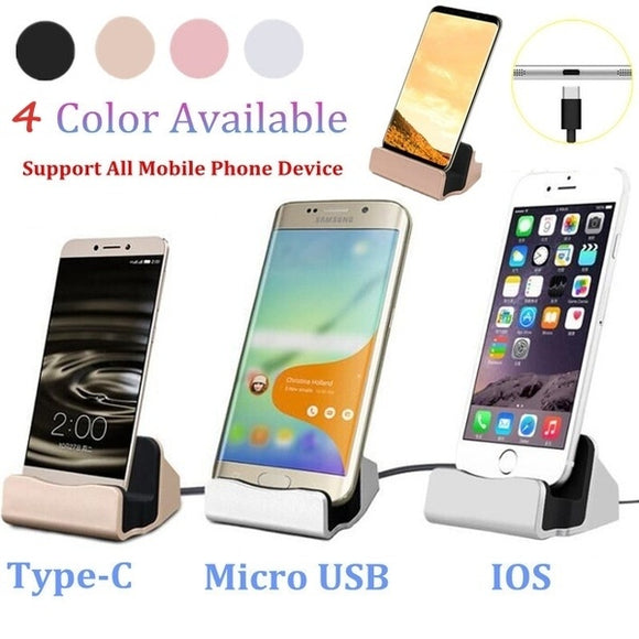 Micro-USB/Type-C/Iphone Phone Charging Cradle Charger Dock Stand Charging Base