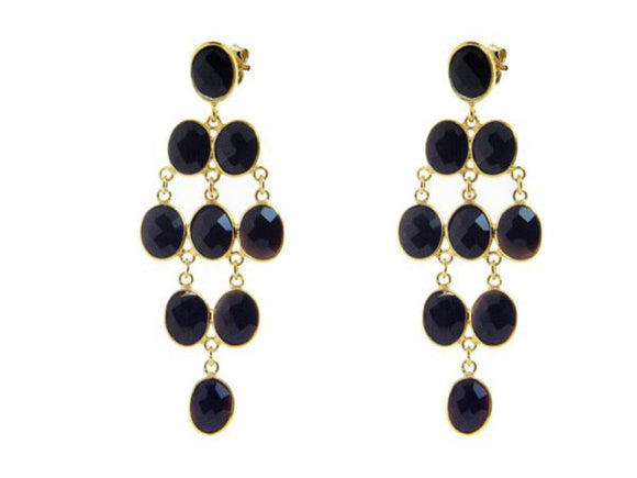Black Onyx Chandelier Earrings