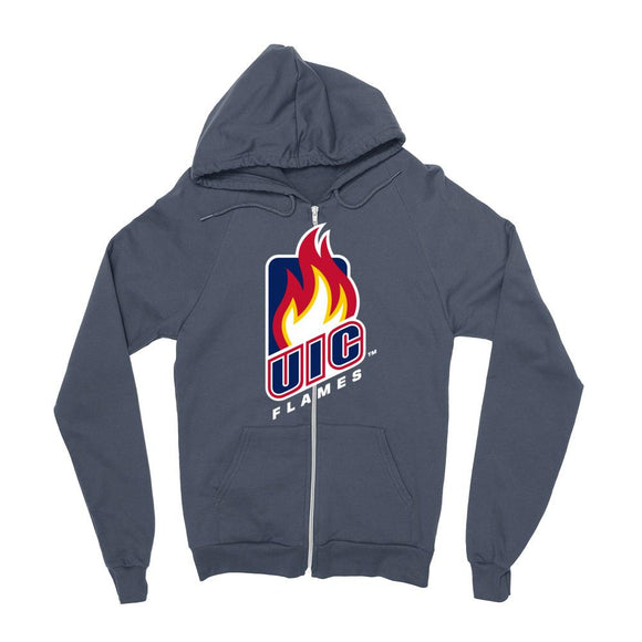 Official NCAA University of Illinois at Chicago Flames - PPUIC102 Mens / womens Boyfriend Zip Hoodie
