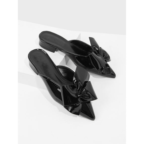 Pointed Toe Bow Detail Flats