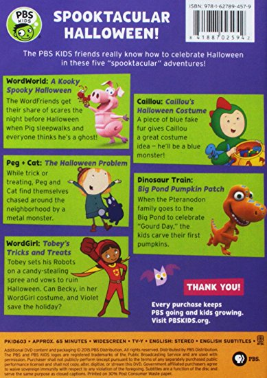 Pbs Kids Halloween Dvd.Pbs Kids Spooktacular Halloween