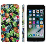 DICHEER iPhone 6 Case,iPhone 6s Case,Cute Pineapples Black Green for Women Girls Slim Fit Thin Clear Bumper Glossy TPU Soft Rubber Silicon Cover Best Protective Phone Case for iPhone 6/iPhone 6s