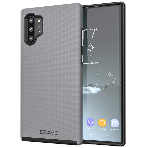 Crave Note 10+ Case, Dual Guard Protection Series Case for Samsung Galaxy Note 10 Plus - Slate