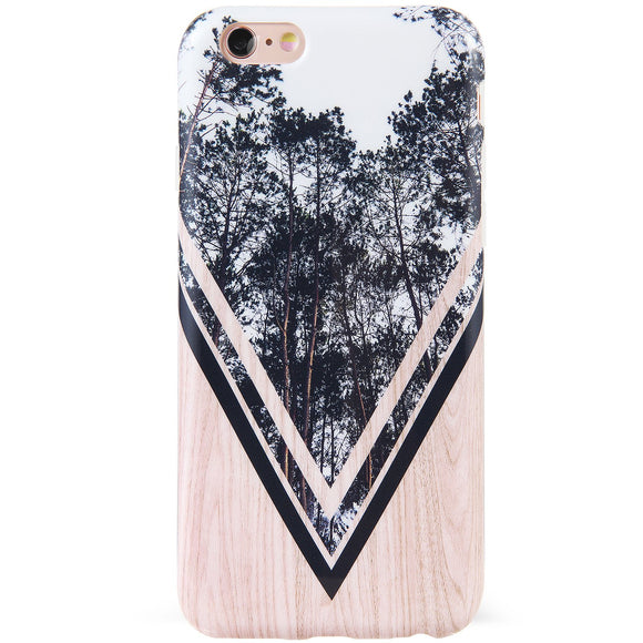 DICHEER iPhone 6 Case,iPhone 6s Case,Cute Grey Trees and Wood for Women Girls Slim Fit Thin Clear Bumper Glossy TPU Soft Rubber Silicon Cover Best Protective Phone Case for iPhone 6/iPhone 6s