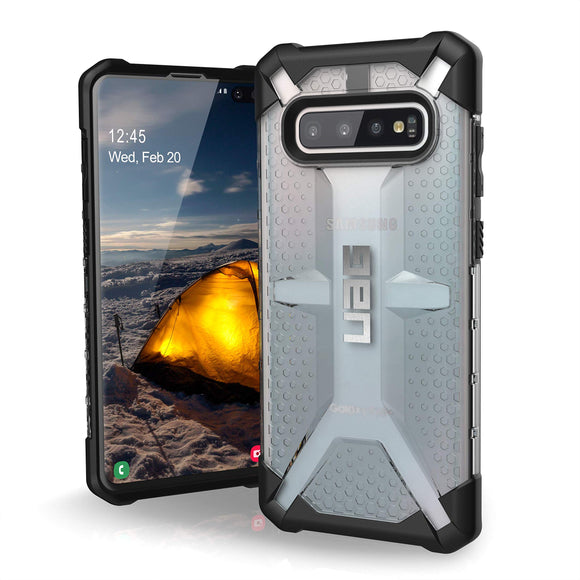 URBAN ARMOR GEAR UAG Designed for Samsung Galaxy S10 Plus [6.4-inch Screen] Plasma [Ice] Military Drop Tested Phone Case