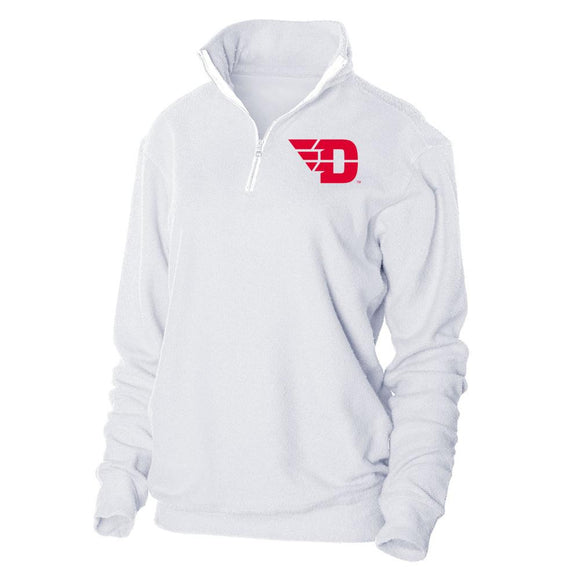 NCAA Dayton Flyers PPDTU01 Loop Fleece 1/4 Zip Up Sweatshirt