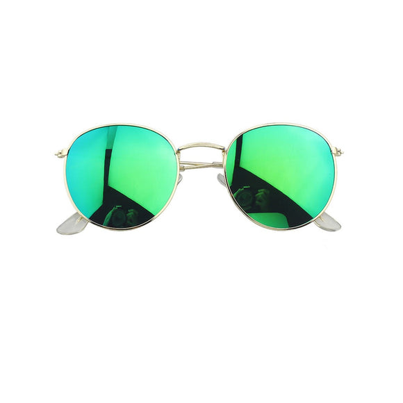 Green Round Oversized Sunglasses