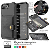 Magnetic Holder Shockproof Hybrid Leather Flip Kickstand Card Slots Case Cover For iPhone X/XS/XR/XS Max iPhone 6/6S/7/8 Plus iP