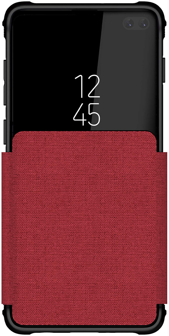 Ghostek Exec Flip Wireless Charging Wallet Case Designed for Galaxy S10+ Plus – Red
