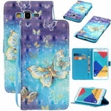 Fashion Butterfly 3D Pattern Flip PU Leather Wallet Card Holder Stand Cover Mobile Phone Bag Case Compatible For iPod Touch 5/6