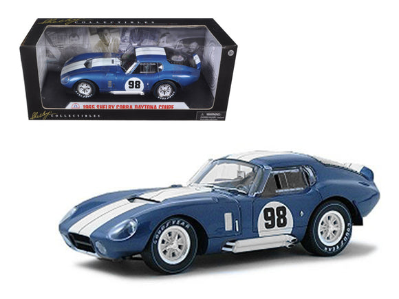 1965 Shelby Cobra Daytona Coupe Blue #98 1-18 Diecast Model Car by Shelby Collectibles