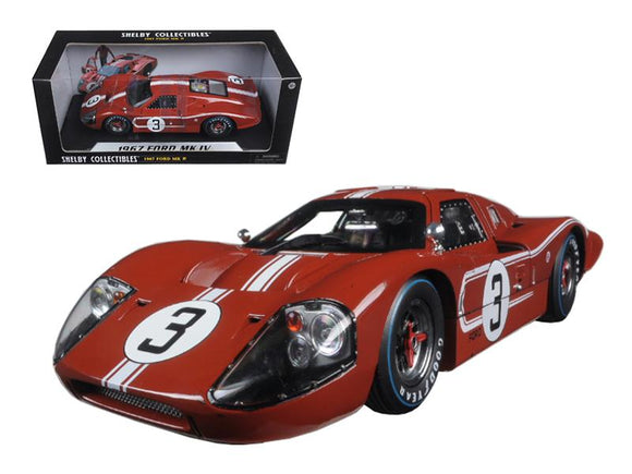 1967 Ford GT MK IV #3 Brown Le Mans 24 Hours M.Andretti - L.Bianchi 1-18 Diecast Model Car by Shelby Collectibles