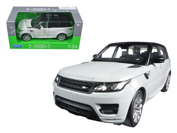 Range Rover Sport White 1-24 Diecast Model Car by Welly