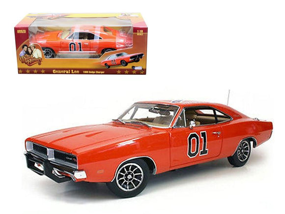 1969 Dodge Charger Dukes Of Hazzard General Lee 1-18 Diecast Car Model by Autoworld