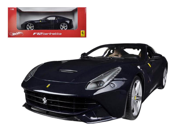 Ferrari F12 Berlinetta Blue 1-18 Diecast Model Car by Hotwheels