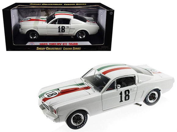 1965 Ford Shelby Mustang GT350R #18 Mexico 1-18 Diecast Car Model by Shelby Collectibles