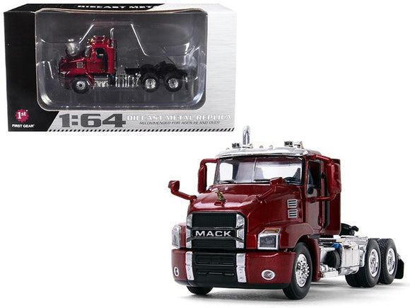 Mack Anthem Day Cab Lacquer Red 1-64 Diecast Model by First Gear