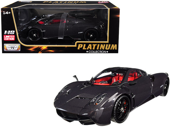 Pagani Huayra Carbon with Red Interior 1-18 Diecast Model Car by Motormax