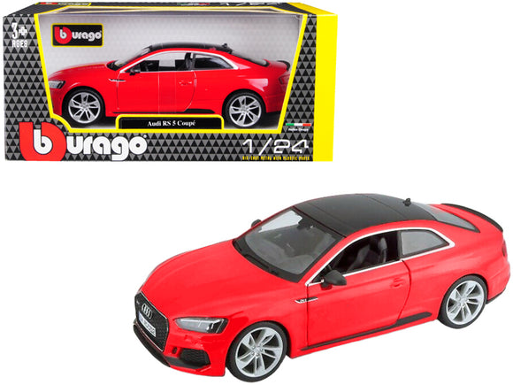 Audi RS 5 Coupe Red with Black Top 1-24 Diecast Model Car by Bburago