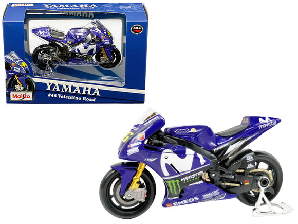 Yamaha YZR-M1 #46 Valentino Rossi Blue 1-18 Diecast Motorcycle Model by Maisto