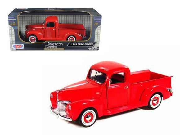 1940 Ford Pickup Truck Red 1-18 Diecast Model Car by Motormax