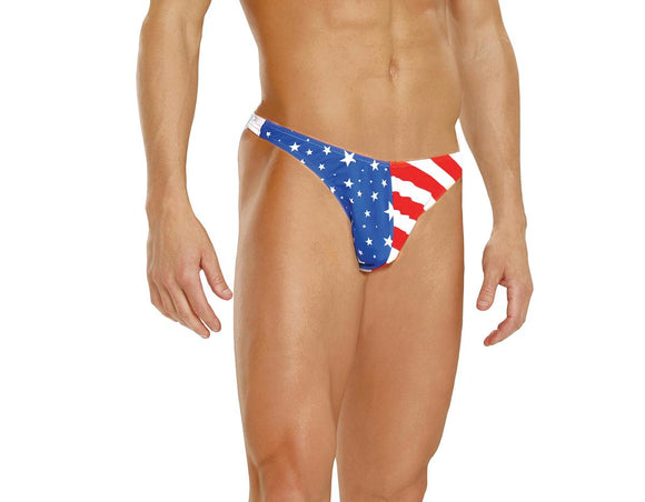 Men's Stars And Stripes Thong