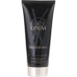 Black Opium By Yves Saint Laurent Shimmering Body Lotion 6.6 Oz