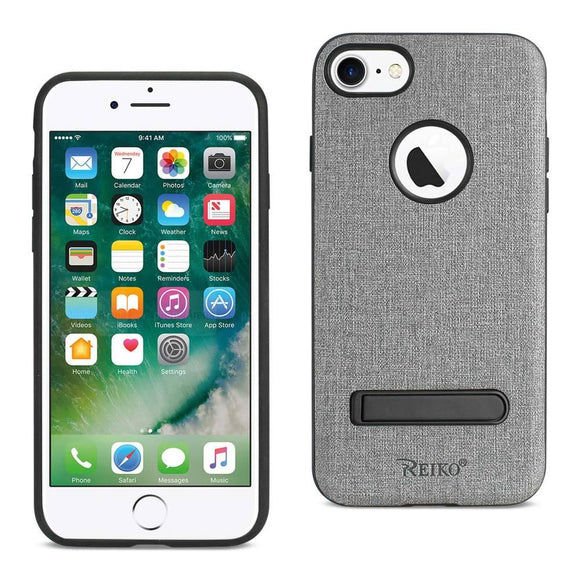 Reiko Reiko Iphone 7- 8 Denim Texture Tpu Protector Cover In Gray