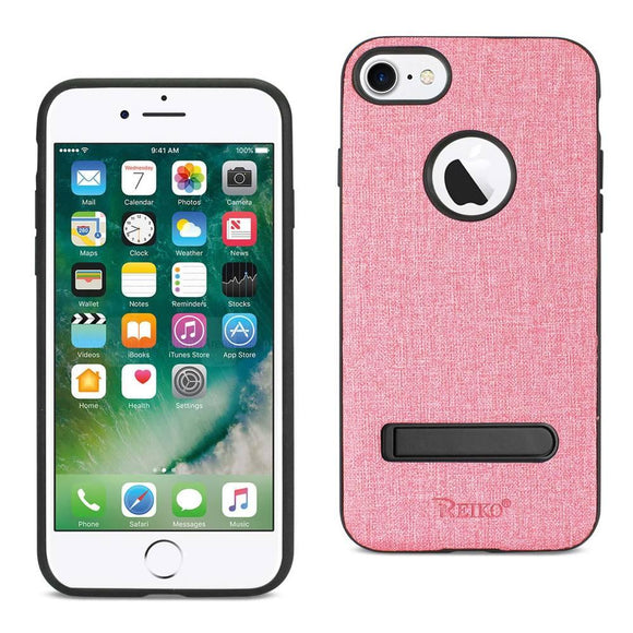 Reiko Reiko Iphone 7- 6- 6S Denim Texture Tpu Protector Cover In Pink