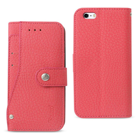 Reiko Reiko Iphone 6- 6S Wallet Case With Slide Out Pocket And Fold Stand In Hot Pink