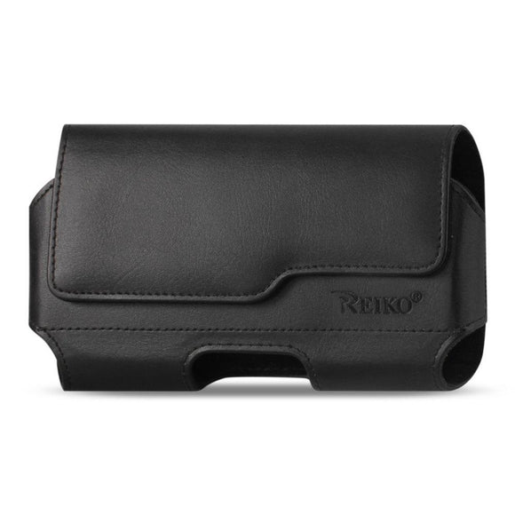 Reiko Reiko Horizontal Leather Pouch Iphone 6- 6S With Z Lid Pattern With Embossed Logo In Black (5.84X3.04X0.67 Inches Plus)
