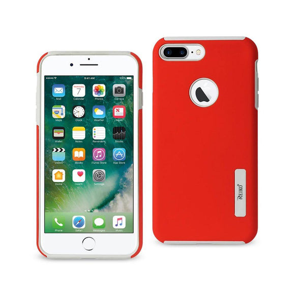 Reiko Reiko Iphone 7 Plus Solid Armor Dual Layer Protective Case In Red