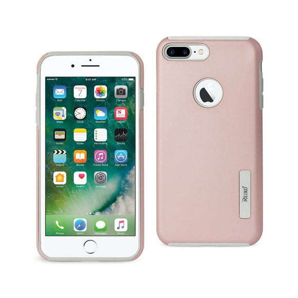 Reiko Reiko Iphone 7 Plus Solid Armor Dual Layer Protective Case In Rose Gold