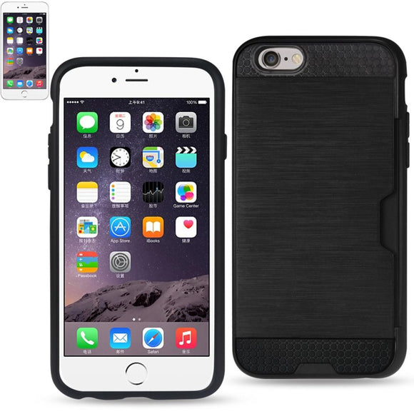 Reiko Reiko Iphone 6 Slim Armor Hybrid Case With Card Holder In Black