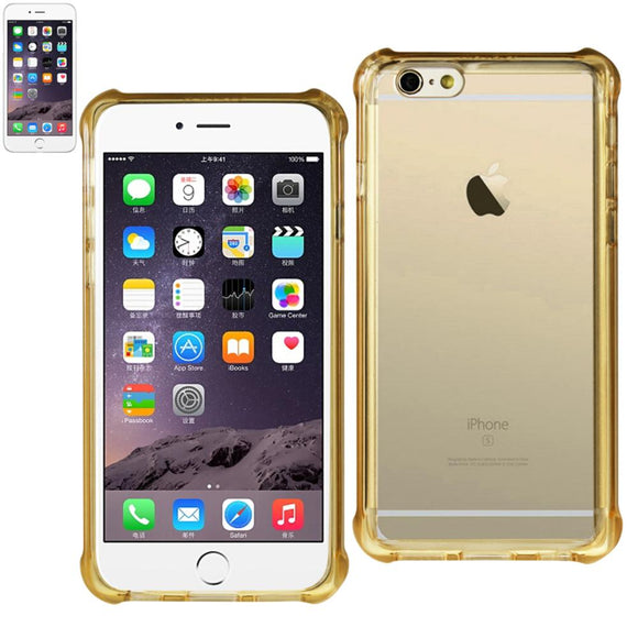 Reiko Reiko Iphone 6 Plus Mirror Effect Case With Air Cushion Protection In Clear Gold