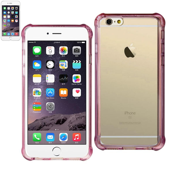 Reiko Reiko Iphone 7 Plus- 6S Plus- 6 Plus Clear Bumper Case With Air Cushion Protection In Clear Hot Pink