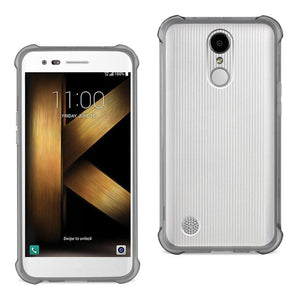 Reiko Reiko Lg K20 V- K20 Plus Clear Bumper Case With Air Cushion Protection In Clear Black