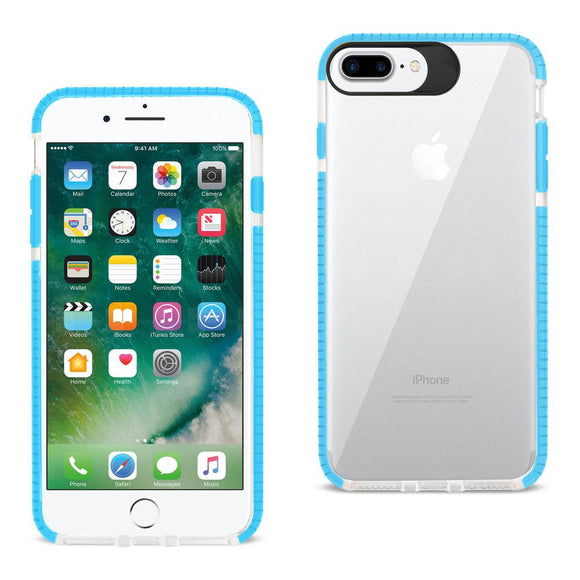 Reiko Reiko Iphone 7 Plus- 6S Plus- 6 Plus Soft Transparent Tpu Case In Clear Blue
