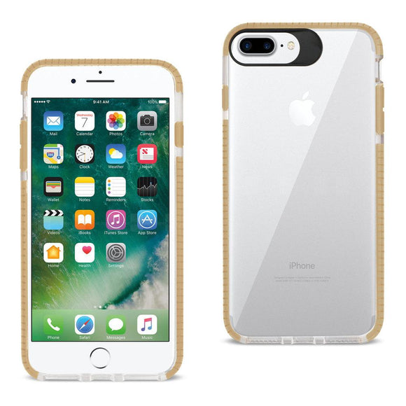 Reiko Reiko Iphone 7 Plus- 6S Plus- 6 Plus Soft Transparent Tpu Case In Clear Gold
