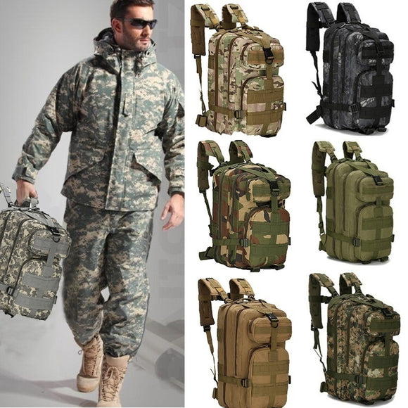 Men Women Outdoor Military Army Tactical Backpack Trekking Sport Travel Rucksacks Camping Hiking Trekking Camouflage Bag