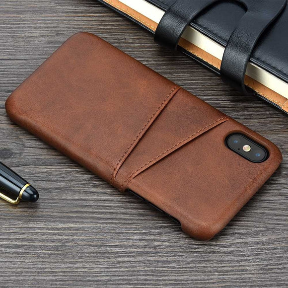 Phone Case For iPhone X XS Max XR 6 6S 7 8 Plus Cover Leather Luxury Wallet Card Slots Back Capa For iPhone XS Max Cases Fundas