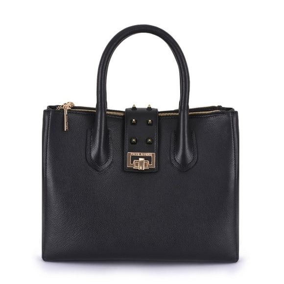 Phive Rivers Women's Leather Black Handbag